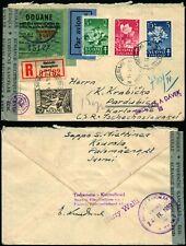K969 Finland registered cover Czechoslovakia Helsinki Pardubice 1951