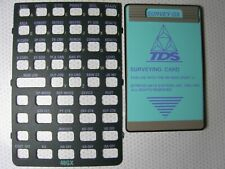 Tds Survey Gx Surveying Card with + Overlay the Hp-48Gx