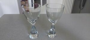 2x Sherryglas Princess, Holmegaard, Design Bent Severin, 14cm hoch top