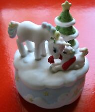 ENESCO MUSIC BOX TITLED IN RAINBOW FORREST from 1986