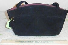 30s 40s Navy Corduroy Purse by Annette