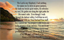 The Lord is my Shepherd Psalms 23 Repositionable Color Wall Sticker Print 36x22