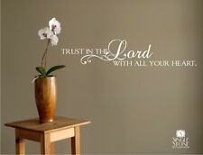Wall Decal Bible Quote Trust In The Lord - Vinyl Sticker Art