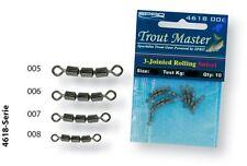 Spro trout Master 3-Jointed Rolling swivel talla 18/14 kg./10 pieza tremarella