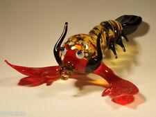 Glass Blown Art Figurine Murano Animal Crayfish # 6535