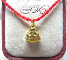 Lovly Pure 24K Yellow Gold Carved Pendant / Smile Buddha 1.99g