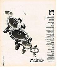 PUBLICITE ADVERTISING 034   1975   ALEXIS BARTHELAY  montres