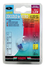 LAMPADE CON ZOCCOLO VETRO ADATTE PER LUCI CRUSCOTTO BLU 12V 1,2w W2x4.6d 58355