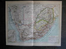 Antique map landkaart South Africa kaapkolonie 1895