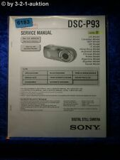 Sony Service Manual DSC P93 Level 2 Digital Still Camera (#6183)