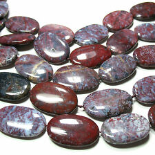 "A+ Gorgeous Red Blue Brown Pietersite 21x35mm Oval Beads 16"" Natural Untreated"