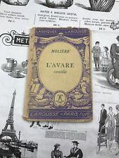 CLASSIQUES LAROUSSE MOLIÈRE L'AVARE COMÉDIE PARIS VIè 1933 AUTEURS FRANÇAIS