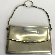 Antique Solid Silver Purse Chatelaine Card Case Design Henry Williamson 1907
