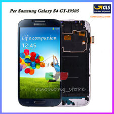 LCD DISPLAY Samsung Galaxy S4 I9505 SCHERMO VETRO MONITOR + FRAME BLU