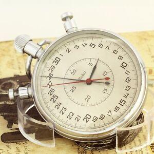 SLAVA 5498 split stopwatch mechanical chronometer Breguet hairspring USSR Soviet