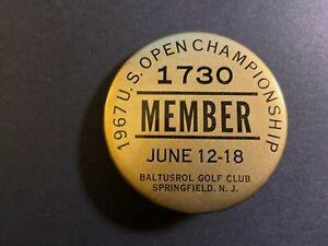 PGA 1967 Member button U.S. Open Baltusrol Jack Nicklaus