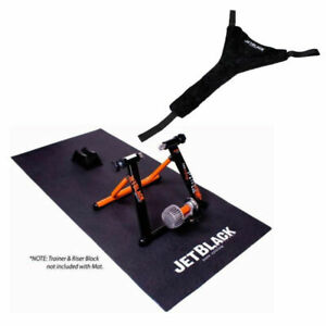 Jetblack Rubber Mat & Sweatnet Pack  Suits All Cycling Home Trainers
