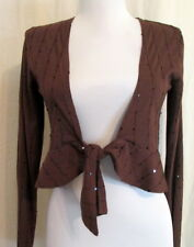 Maurices BROWN short Duster Shrug poly/rayon S *FREE SHIPPING* Nice