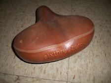 sixthreezero Used Bicycle seat Brown leather finish Velo brand seat