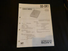 ORIGINALI service manual Sony dd-dr1
