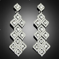 Chandelier Bib Clear Crystal rhinestone Club Dangle Earring For wedding women