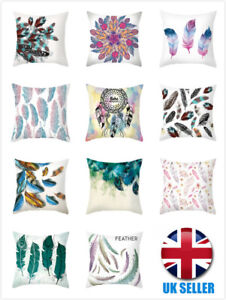 """UK Colored Feather Crushed Soft Blush High Quality 18"""" Soft Cushion Cover gift"""