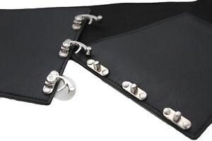 Women Hip High Waist Wide Elastic Band Sexy Fashion Black Corset Belt Size S M