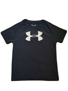 Under Armour Boys Toddler Short Sleeve Black Heat Gear Logo Shirt 2T