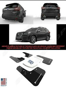 Rally Armor UR Black Mud Flaps w/ White Logo for 2018-2021 Subaru Ascent