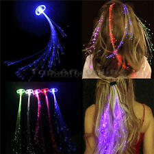 LED Butterfly Lights Up Hair Clip Luminous Braid Party Concert Glowing Clips