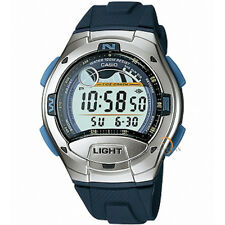 CASIO DIGITAL STOPWATCH AUTO LED LIGHT MOON FACE ALARMS MEN'S WATCH W-753-2A NEW