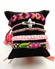 Woven Friendship Bracelets, Set of 5, cotton, String Bands, Cross Bracelet