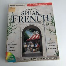 Vintage Is The Learning Company Learn To Speak French Cd Book Set 1994