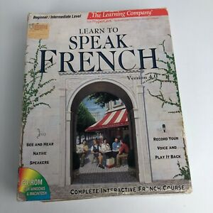 How to Speak French Course CD & Book Set 1994 Vintage