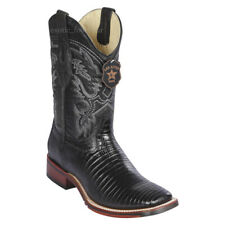 "Men's Los Altos Genuine Lizard Western Boots Square Toe TPU Outsole 11"" Shaft"