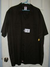 Dickies 3XL Brown Button Up Shirt Brand New with Tags