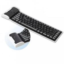 WATERPROOF WIRELESS KEYBOARD FLEXIBLE FOLDING KEYPAD for PHONE TABLETS