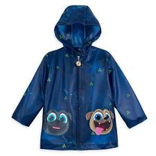 Disney Store Deluxe Puppy Dog Pals Rain Jacket Coat Blue with Bingo & Rolly NEW