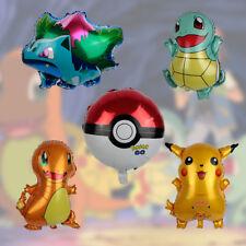 5 Pack of Pokemon Balloons Birthday Party Cartoon Pikachu Bulbasaur Decoration