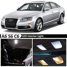 16x White Interior LED Lights Package Kit for 2005-2011 Audi A6 S6 C6 Error Free