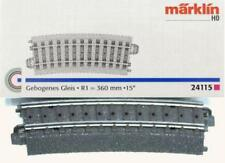 Märklin 24115 H0 - gebogenes Gleis R1 360mm, 15° NEU