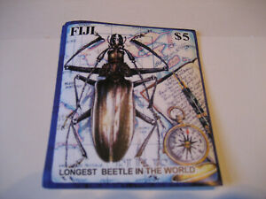 FIJI        2004        LONGEST BEETLE IN THE WORLD  SOUVENIR SHEET