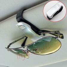 Stile Argento Auto Aletta Parasole Occhio Occhiali Da Sole Occhiali ID Card Clip Holder Accessori