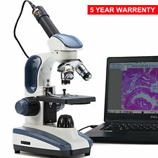 SWIFT 40X-1000X Compound Microscope Biological Lab Student + Digital USB Camera