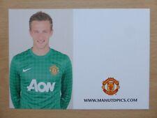 2012-13 Anders Lindegaard Unsigned Man Utd Club Card - RARE (9694)
