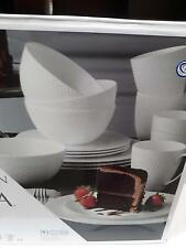 New ! Mikasa-Hutington 16-Piece Bone China Dinnerware Set, Service for 4