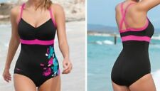 Zoggs Swimshapes Swimsuit Size 28E 6 Ella Control Booty Suit Black Pink New