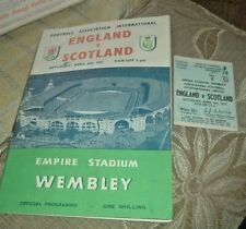 More details for england v scotland wembley 6th april 1957 plus ticket
