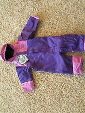 NEW COLUMBIA BUGABABY INTERCHANGE SNOWSUIT BUNTING PURPLE BABY GIRLS 3-6 MONTH