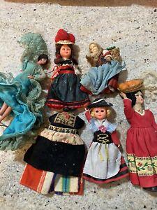 5 Vintage Mixed Doll Lot